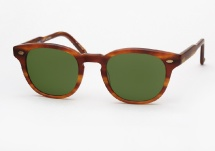 Garrett Leight Warren - Matte Honey Amber Tortoise