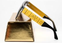 Vintage Frames Company Love/Hate - Black and Gold