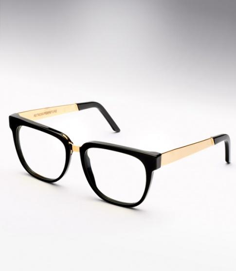 Super People Black & Gold Metal M&A Eyeglasses