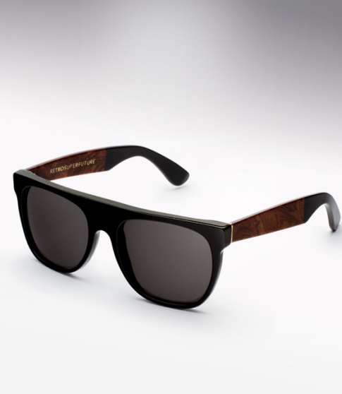 Super Flat Top Sunglasses Black Briar Black Super Flat Black Briar