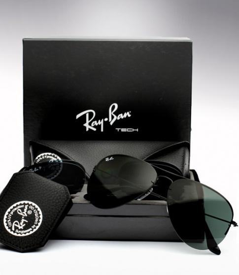 Rayban Polarized Aviator Flip Out Sunglass Black