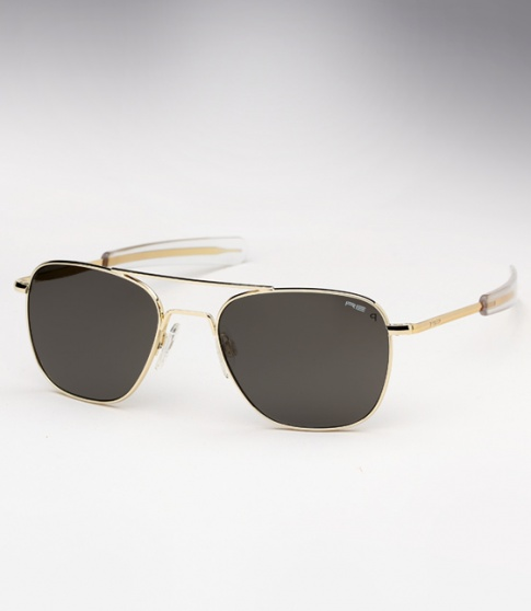 9321411f8889a Randolph Engineering Aviator - 23K Gold   Grey Polarized
