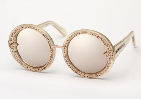 d7a2cbb22e40 Karen Walker Orbit Filigree Sunglasses - Gold Glitter