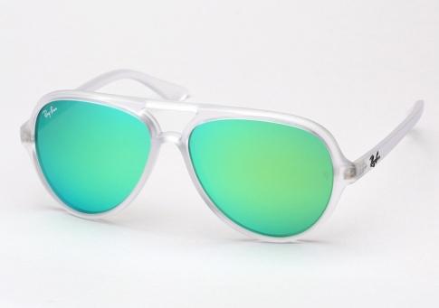 5a0d26c335 Ray Ban RB 4125 Cats 5000 Sunglasses - Matte Transparent / Aqua ...