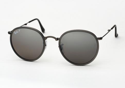 4d11754d82e5 Ray Ban RB 3517 Round Metal Folding Sunglasses - Matte Gunmetal w ...
