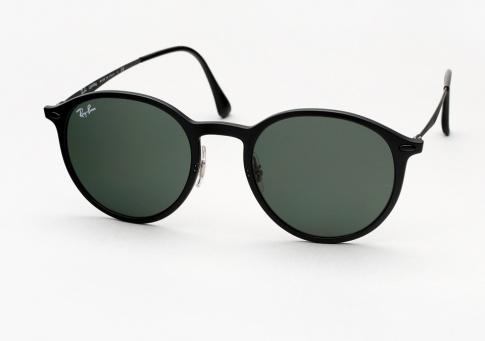 ray ban black round sunglasses